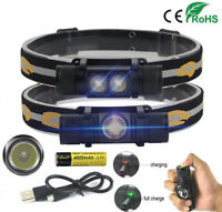 10000lm XM-L2 LED USB Headlamp Head Torch Rechargeable Flashlight 18650 Hunting