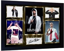 Eminem signed autograph Music pre-print poster photo Framed Perfect gift