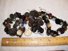 ESTATE LOT ANTIQUE BUTTONS CHARMSTRING GLASS METAL ETC DONT NKOW
