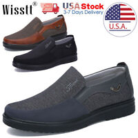 Mens Dress Shoes Slip on Driving Leather Casual Shoes Loafers Moccasins Antiskid