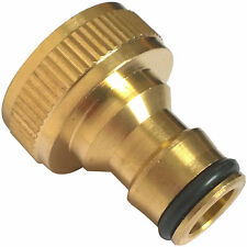 """Brass Hose Tap Connector 3/4"""" Threaded Garden Water Pipe  Fitting MALE-GA126"""