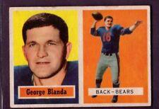 1957 Topps #31 George Blanda Chicago Bears Fair to Good