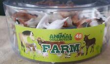 Toy Farm Animal Mini Set 48 Animals Playset New