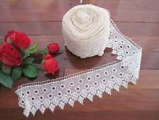 Gorgeous Ivory 90mm Wide Chemical Lace Ribbon Trim Per Meter