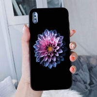Flower Pattern Hard Phone Case Cover For Samsung S9 S8 + iPhone 7 Huawei P20 BR