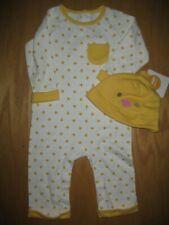 Nwt Gymboree Pastel Pals 6-12 Months Yellow Chick One-piece Sleeper Hat Unisex