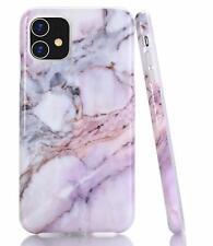 Shiny Marble Design iPhone11 Case Slim Flexible Soft Silicone Bumper Purple Pink
