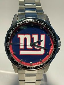 New York Giants NFL Logo Stainless Steel Game Time Watch NEW
