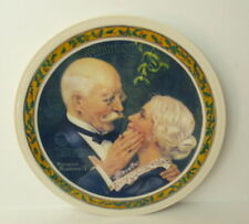 Norman Rockwell Dad Mom Golden Christmas Plate Knowles 1976  3771A Retired