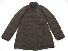 ABERCROMBIE & FITCH #K1233 Women's Size L Warm Feather Down Brown Puffer Jacket