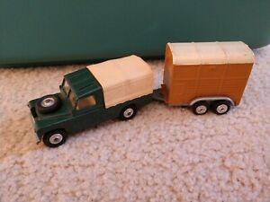 RARE Vintage Green Corgi Toys Model No. 438 Land Rover 109 WB, Rice Pony Trailer