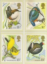 GB 1980 PHQ Cards Set SG 1109 to 1112 Centenary of Wild Birds Protection Act