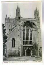 TEWKESBURY ABBEY, BUILT IN THE 600S AD., GLOUCESTERSHIRE ENGLAND RPPC POSTCARD