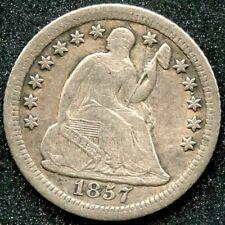 1857-O (XF) 5C SEATED LIBERTY HALF DIME