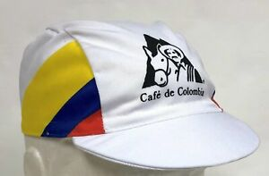 Cafe de Colombia Vintage Team Cycling Cap - Made in Italy by Apis