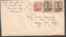 Philippines 1954 cover & letter Peresita Ko Bacolod City to Hollywood CA