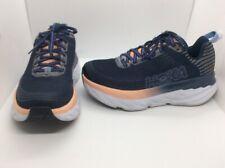 HOKA ONE ONE Women Clifton 6 Blue Running Training Athletic Shoes Sz 7 W ZE-582