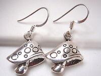 Mushroom Dangle Earrings 925 Sterling Silver Corona Sun Jewelry