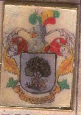 Héraldique BROCHES métallique du nom de famille : FERNANDEZ