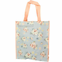 Floral Jennifer Rose Reusable Shopping Bag 40cm Grocery Tote Handled Eco Shopper