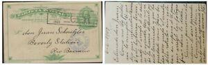 O) 1909 COSTA RICA, 2 CENTIMOS COLON - COLUMBUS, POSTAL STATIONARY VIA LIMON TO