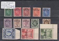 1948 COLONIE OCCUPAZIONE INGLESE TRIPOLITANIA SOPRASTAMPA BMA 13 V. MNH** BORDO