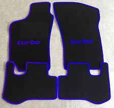 Autoteppich Fußmatten für Fiat Coupe 16V + 20V +Turbo 94'-00' schwarz blau Neu