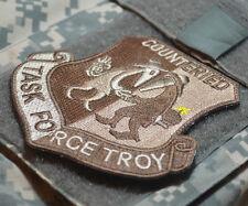 TALIZOMBIE© WHACKER JSOC WAR TROPHY velkrö PATCH: Task Force Troy Counter IED
