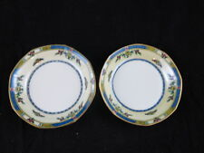 JPL J Pouyat Limoges Wanamakers Art Deco Blue Gold Antique set of 2 Berry Bowls