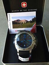 Swiss Military Watch, Blue on Black (NEW)