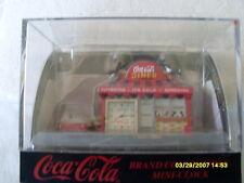 COKE TOY  COCA COLA MINI RETRO DINER WITH DRIVE THRU & COKE CLOCK