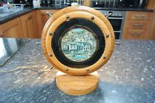 Vintage Nautical 1950s / 1960s Ships Wheel Brixham Harbour Lamp