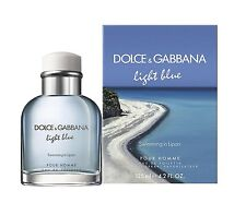 LIGHT BLUE Swimming In Lipari Dolce & Gabbana 4.2 oz EDT spray Men Cologne 125ml