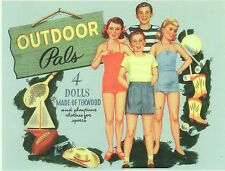 Vintage Uncut 1940S Outdoor Pals Paper Doll Whitman~Fun~Reproduction No.1 Seller