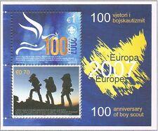 2007 Kosovo Blok 6 Europa CEPT 100 jaar scouting