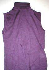 New Womens Designer VJC Versace Jeans Couture Sleeveless Wool S Purple Top Sweat