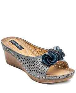 GC Shoes Women's Juliet Wedge Sandals Pewter Size 9.5