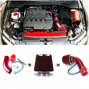 Cold Air Intake Filter Pipe Induction Kit Power Flow Hose System Car Accessory