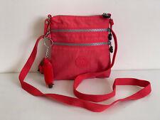 NEW! KIPLING ALVAR XS NEON PINK RED MINI CROSSBODY SLING SHOULDER BAG PURSE SALE