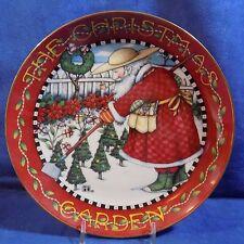 DANBURY MINT MARY ENGELBREIT THE CHRISTMAS GARDEN COLLECTOR PLATE - EUC