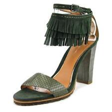 Calzado de mujer de tacón alto (más que 7,5 cm) de color principal verde de piel