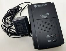 Southwestern Bell Microcassette Telephone Answering Machine FA936 Black