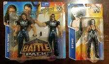 WWE LOT OF 2 NWO OUTSIDER SCOTT HALL KEVIN NASH BATTLE PACK 36 + STING SERIES 55