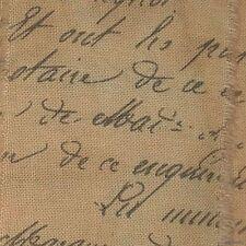 v31 muslin old world script tea dyed fabric ribbon trim