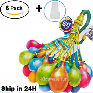 8-pack (888 Water Balloons) Bunch O Instant balloons Already Tied Self-Sealing
