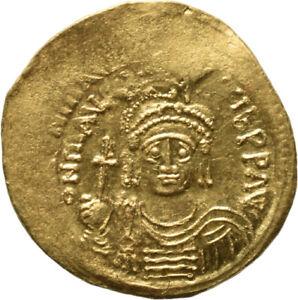 DIONYSOS Mauricius Tiberius AV-Solidus Constantinopel Victoria #MF 1093
