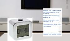 WIDDOP LCD ALARM CLOCK Modern Cube Digital Alarm Clock Temperature