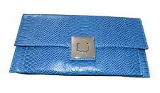 NEW Beautiful Blue Faux Snakeskin Clutch Bag, UK Seller