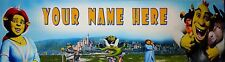 FREE SHREK (#132) PERSONALIZED  POSTER /BANNER  W/ YOUR NAME 30X8.5