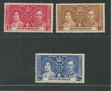 MONTSERRAT # 89-91 MNH CORONATION OF KING GEORGE VI